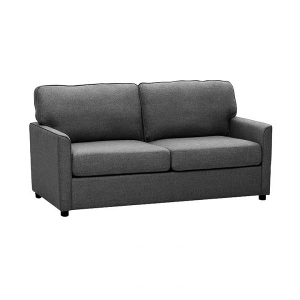 Eada Linen Fabric Inner Spring Pull Out Sofa Bed, Charcoal