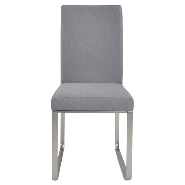 Edwin Fabric Dining Chair, Light Grey