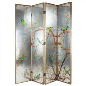 Exotic Melodies Qua Fold Mirror Dressing Screen / Room Divider