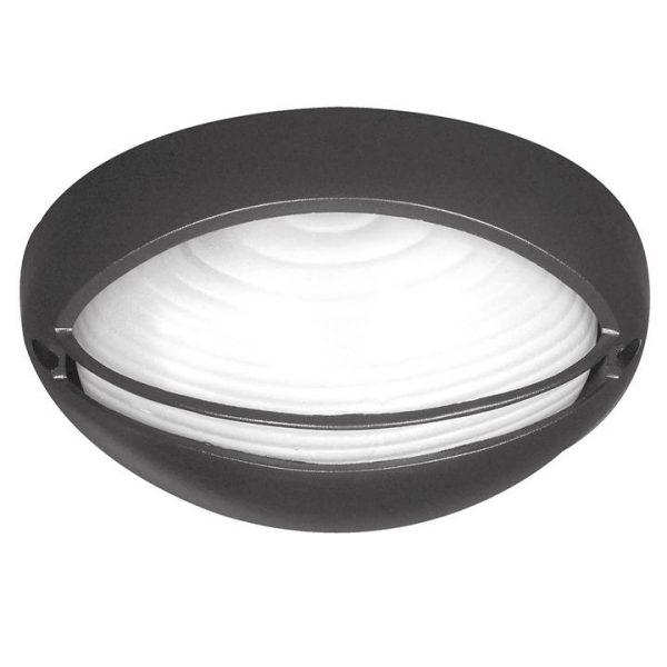 Fiore IP54 Oval Outdoor Eyelid Bunker Light, Black