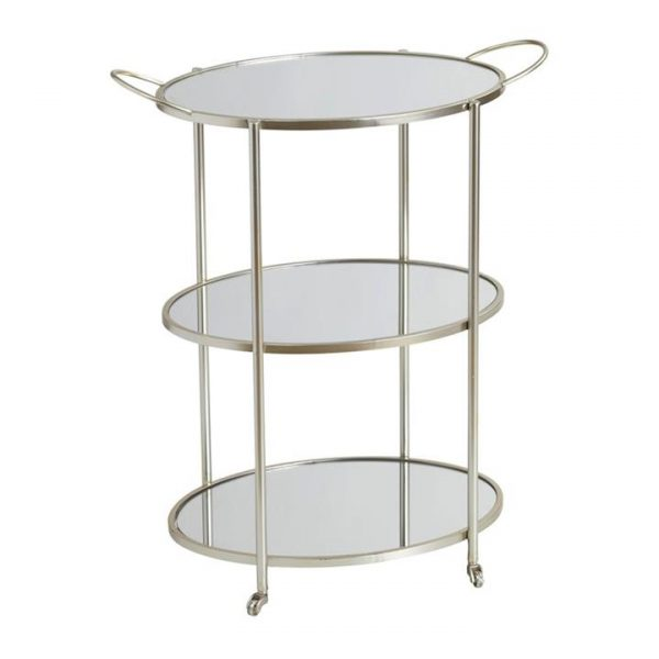 Fitzgerald Iron Oval Drinks Trolley