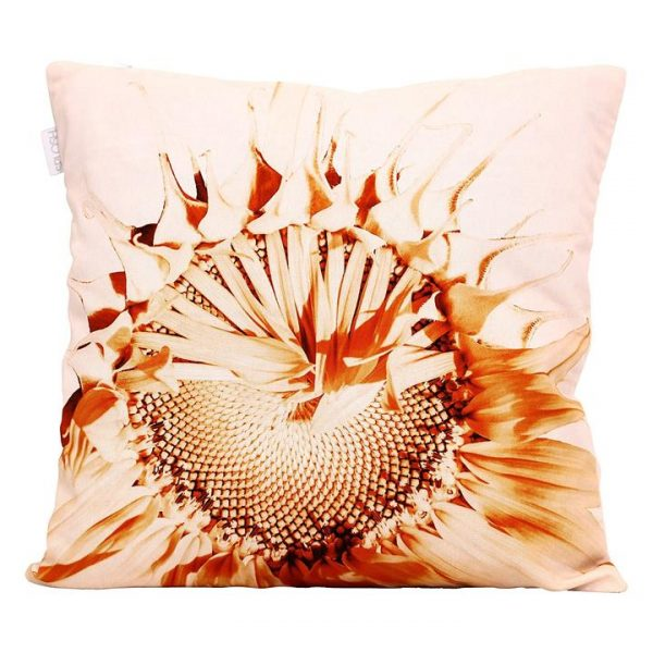 Flourish Contrast Sunflower Cushion