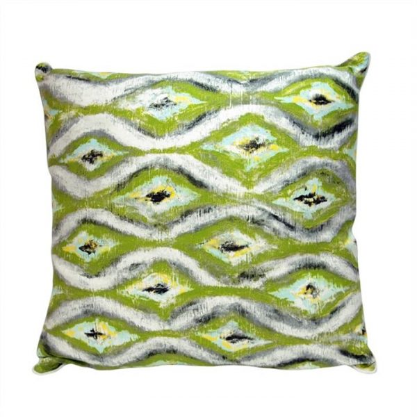 Green Diamond Cotton and Linen Cushion