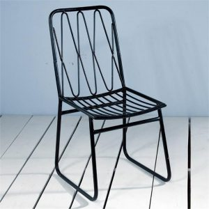 Gunners Barrack Commercial Grade Metal Dining Chair, Set of 2