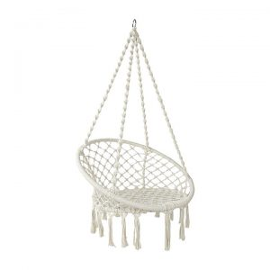 Hephae Indoor/Outdoor Hanging Chair, Cream