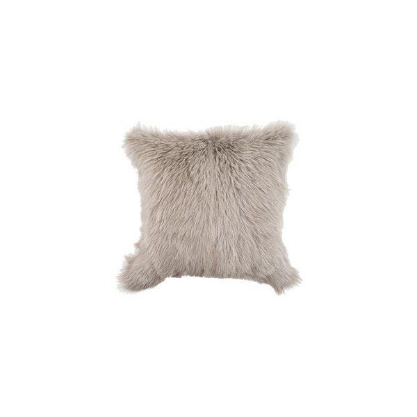 Himalayan Goatskin Cushion, Grey