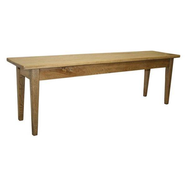 Holman Oak Timber Dining Bench, 145cm Antique Oak