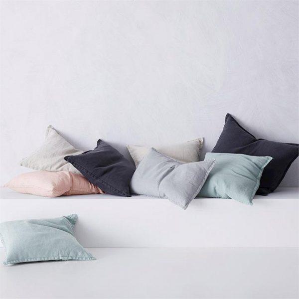 Home Republic Belgian Vintage Washed Linen Cushion 40x60cm Seal Grey - Sealgrey By Adairs