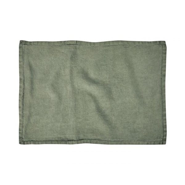 Home Republic Belgian Vintage Washed Linen Cushion Covers Forest 40x60cm By Adairs
