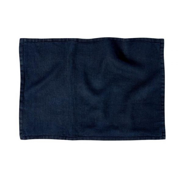 Home Republic Belgian Vintage Washed Linen Cushion Covers Navy 40x60cm By Adairs