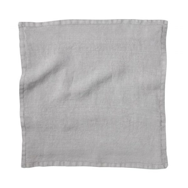 Home Republic Belgian Vintage Washed Linen Cushion Covers Seal Grey 50x50cm - Sealgrey By Adairs
