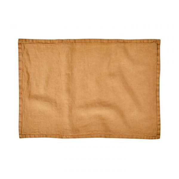 Home Republic Belgian Vintage Washed Linen Cushion Covers Tobacco 40x60cm By Adairs