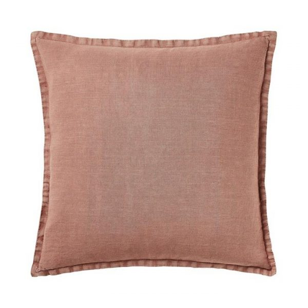 Home Republic Belgian Vintage Washed Linen Cushion Dusty Rose 50x50cm - Dustyrose By Adairs