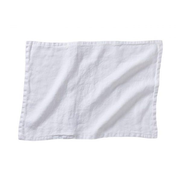 Home Republic *Covers only* Belgian Vintage Washed Linen Cushion Covers White By Adairs