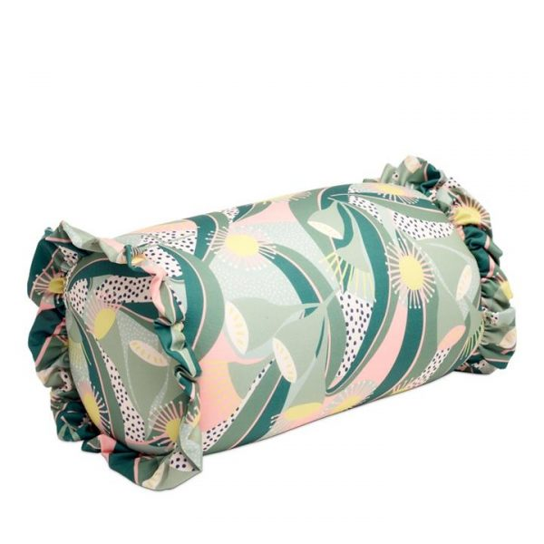 Home Republic Cylinder Beach Pillow S20 16x30cm Native Flora Greens - Nativefloral By Adairs