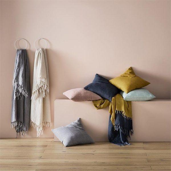 Home Republic Malmo Linen Cushion 50x50cm Mint By Adairs