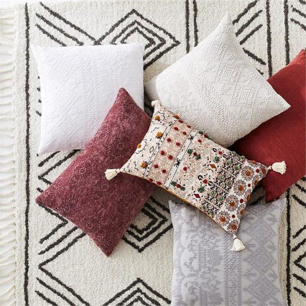 Home Republic Malmo Linen Cushion Rust By Adairs