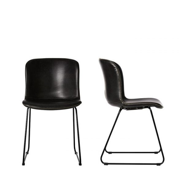 Home Republic Orlando Dining Collection Black Dining Chair Set of 2 By Adairs