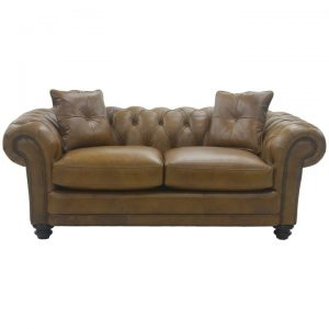 Homerton Leather Chestfield Sofa, 2 Seater