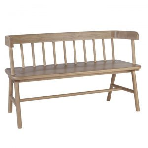 Jenson Ashwood Dining Bench, 120cm