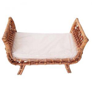 Jessie Rattan Dolls' Bed