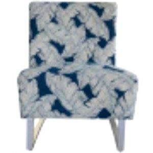 Jessy Fabric Outdoor Lounge Chair, Navy Palm