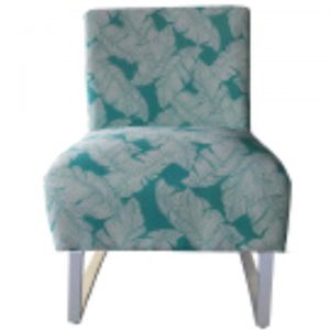 Jessy Fabric Outdoor Lounge Chair, Teal Palm