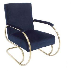 Joel Velvet Armchair