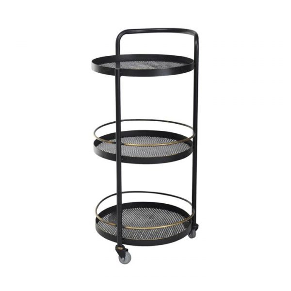 Jules Commercial Grade Iron Round Drinks Trolley