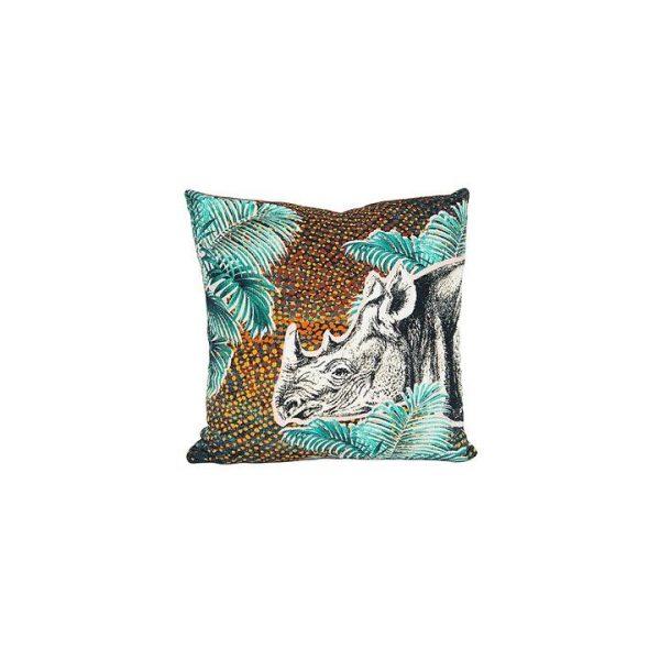 Jungle Rhino Cushion
