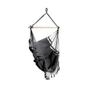 Kiersten Outdoor Hammock Swing Chair, Grey
