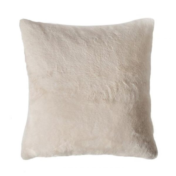Kilburn & Scott Faux Rabbit Double Sided Cushion, Cream