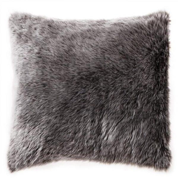 Kilburn & Scott Wolf Faux Fur Cushion, 50x50cm, Chocolate