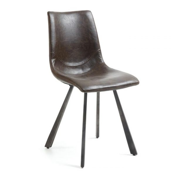 Kilburnie PU Leather Dining Chair, Chocolate