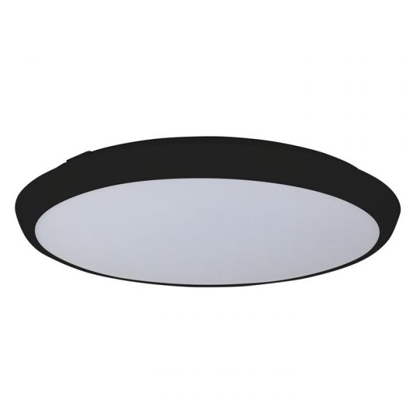 Kore IP54 Indoor / Outdoor Colour Changing LED Oyster Light, 40cm, Black