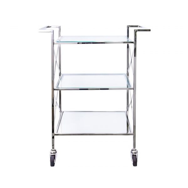 Lanzerac Glass & Metal Drinks Trolley