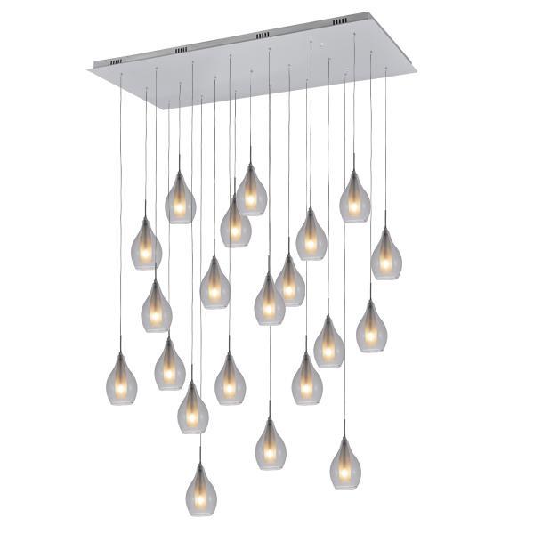 Large Lighting Modern Dining Table Pendants Lights Clear Glassware