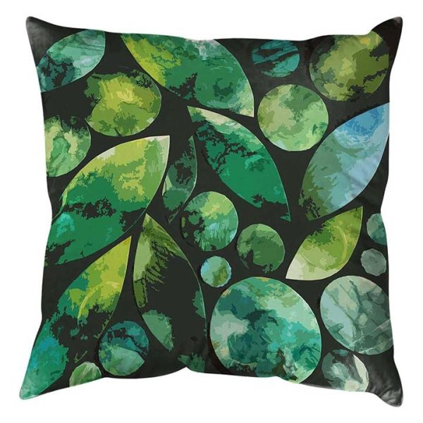 Leaf Circles and Shapes 2 Cushion