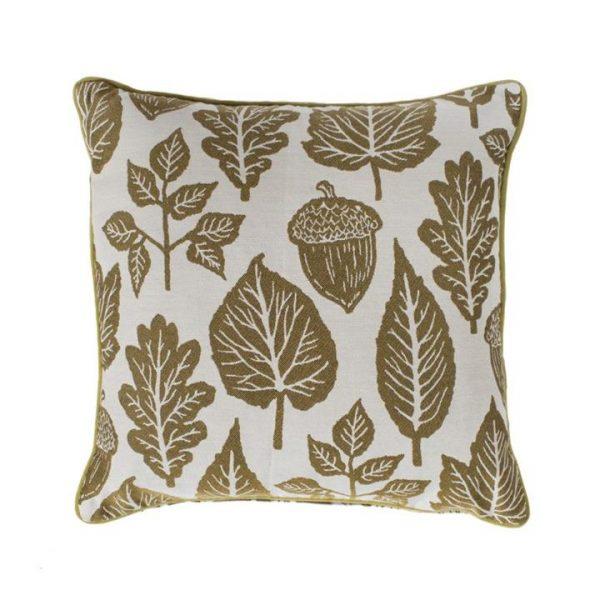 Leaves Tapestry Scatter Cushion, Ochre