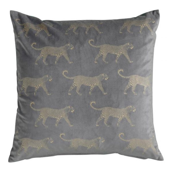 Leopard Feather Filled Velvet Fabric Scatter Cushion