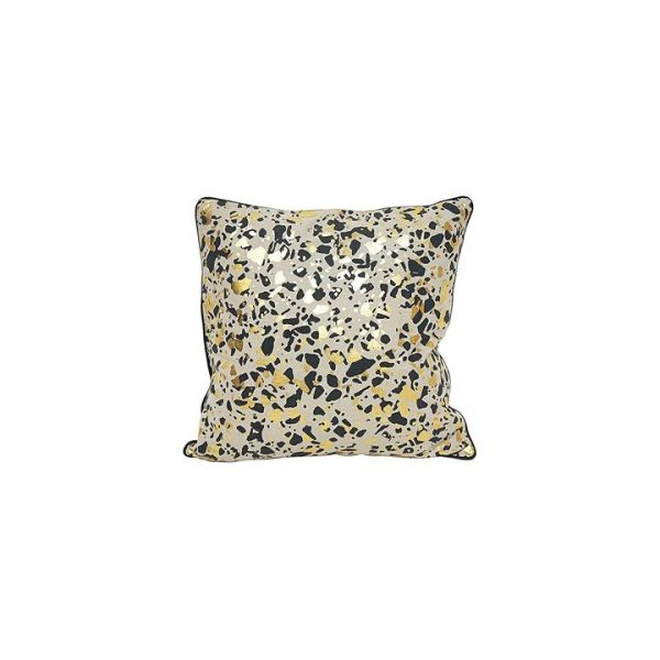 Leopard with Gold Foil Cushion