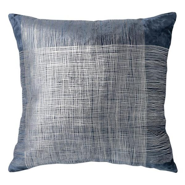 Liberte Cushion with Feather Insert, Denim