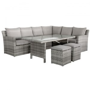 Maira 4 Piece Outdoor Modular Corner Sofa with Table Set