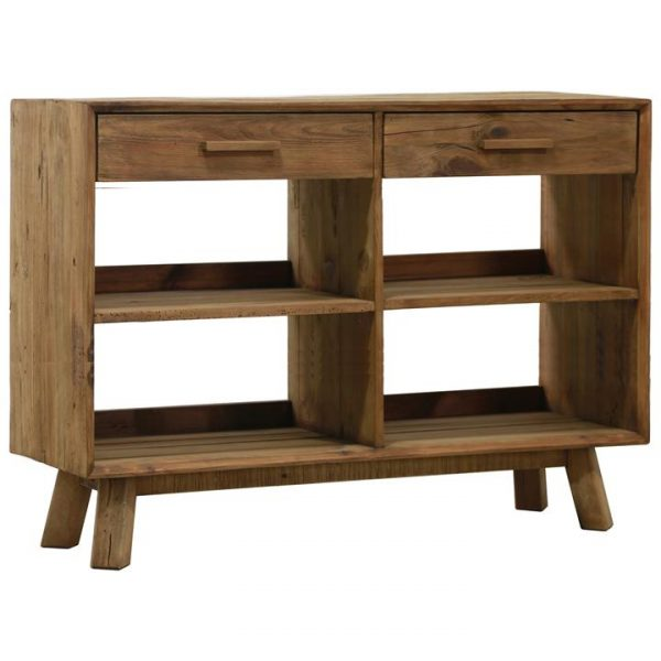 Mandalay Recycled Pine Timber 2 Drawer Sideboard, 120cm