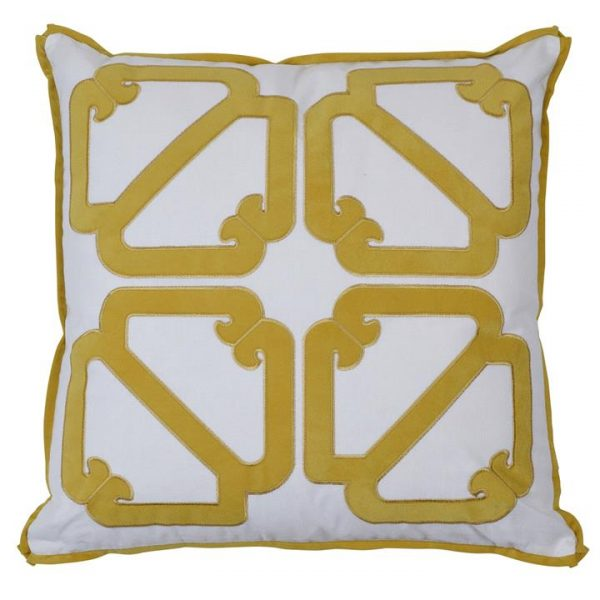 Manly Cotton Scatter Cushion Cover, Gold