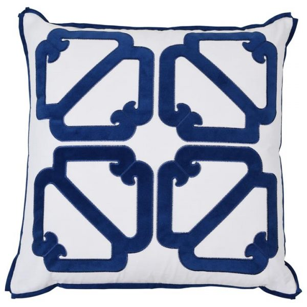 Manly Cotton Scatter Cushion Cover, Navy