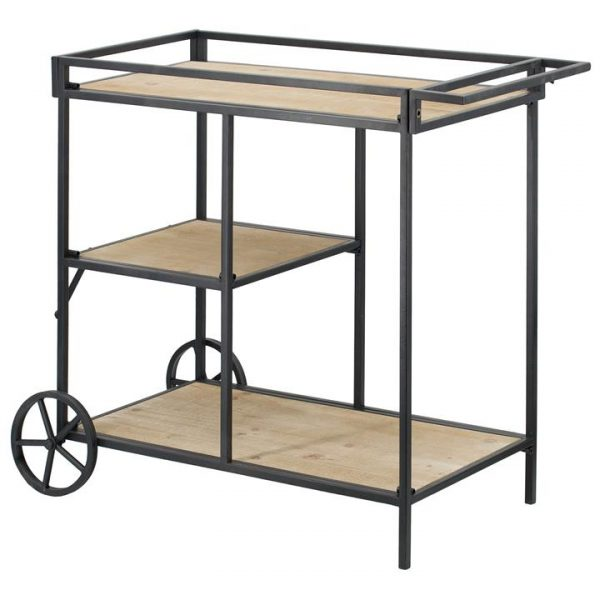 Marboro Iron & Fir Wood Drinks Trolley