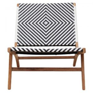Martock Poly Rattan and Teak Timber Outdoor Lounge Chair
