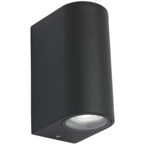 Marvin IP44 LED Outdoor Up/Down Wall Light, Graphite