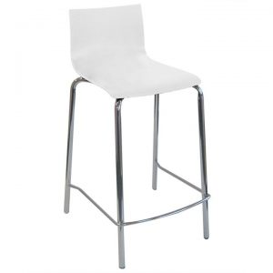 Mayer Commercial Grade Basswood Bar Stool, White